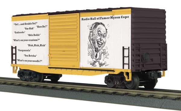 MTH 30-74489 Pittsburgh Steelers 40' Hi Cube Boxcar Myron Cope