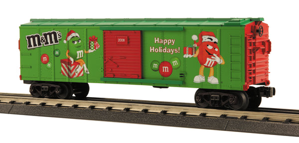 MTH 30-74490 M&M's Christmas Boxcar #2008 O Gauge