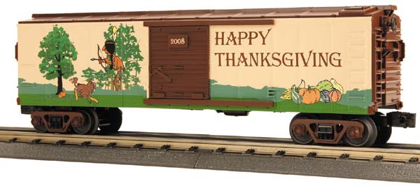 MTH 30-74495 Happy Thanksgiving Boxcar 2008