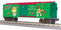 MTH 30-74537 M&M's Merry Christmas Holiday Boxcar 2009
