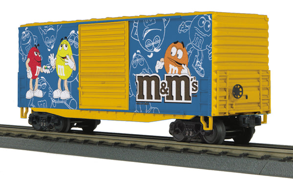 MTH 30-74575 M&M's 40' High Cube Boxcar