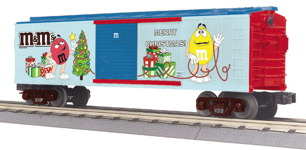 MTH 30-74782 Merry Christmas M&M's Boxcar O Gauge