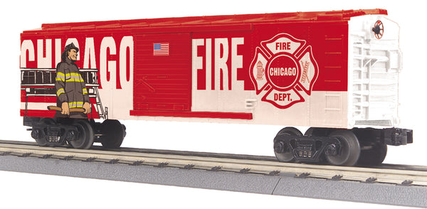 MTH 30-74910 Chicago Fire Department (White & Red) Boxcar # 2018