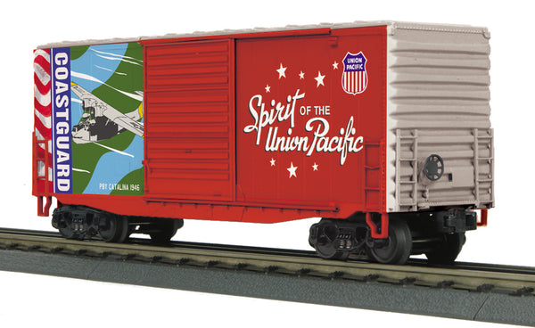 MTH 30-74924 Union Pacific UP Spirit of the Union Pacific Coast Guard 40' High Cube Boxcar