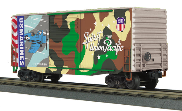 MTH 30-74926  Union Pacific UP (Marines - Spirit of Union Pacific) 40' High Cube Box Car No. 1944
