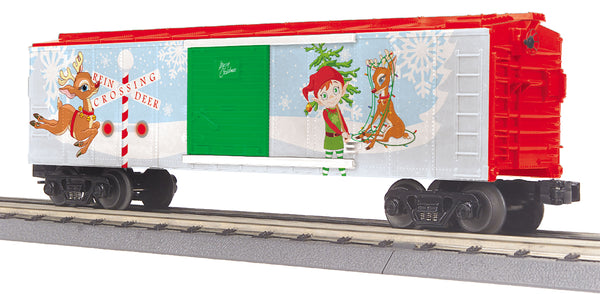 MTH 30-74971 Christmas Boxcar With Blinking LED's