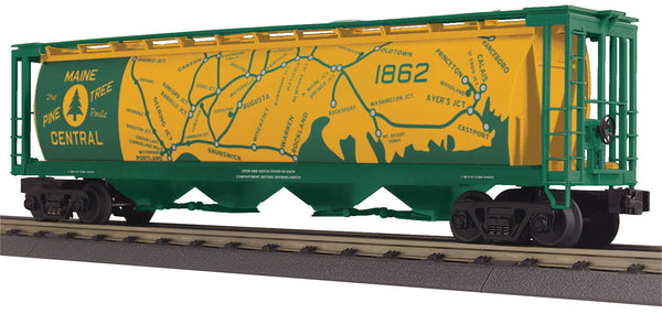 MTH 30-75630 Maine Central 4-Bay Cylindrical Hopper Car with Map