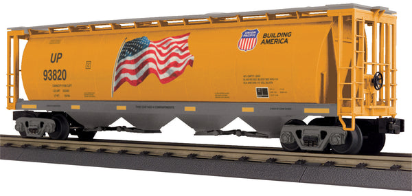 MTH 30-75680 Union Pacific UP 4-Bay Cylindrical Hopper Car # 93820 Limited