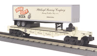 MTH 30-76092 Pittsburgh Brewing Company Flat Car with Trailer