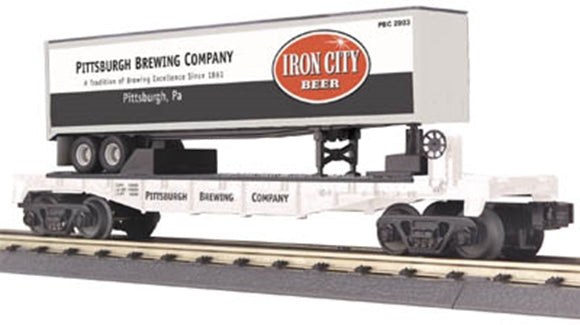 MTH 30-76110 Iron City Flat Car with Trailer