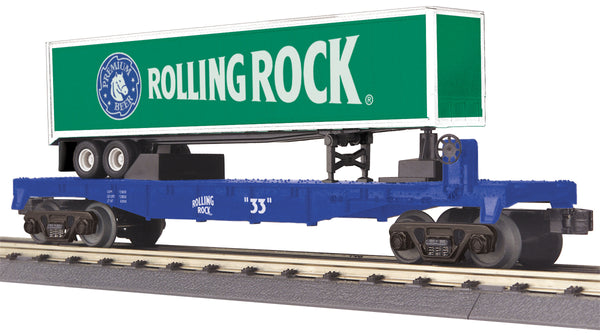 MTH 30-76277 Rolling Rock Flat Car w/ Trailer
