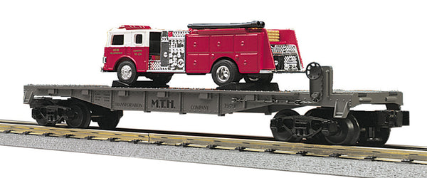 MTH 30-7629 MTH Transportation Company Flat car with Fire Truck  AZ