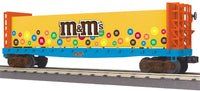 MTH 30-76415 M&M'S Flat Car - w/Bulkheads w/ Load