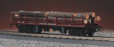 MTH 30-7648 Western Maryland Operating Flatcar with Logs