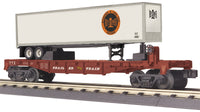 MTH 30-76585 Bessemer & Lake Erie Flat Car w/40' Trailer Car # 47287