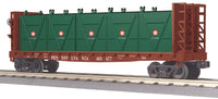MTH 30-76603 Pennsylvania PRR Flat Car - w/Bulkheads & LCL Containers - Car No. 469677