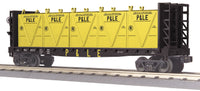 MTH 30-76606 Pittsburgh & Lake Erie P&LE Flat Car - w/Bulkheads & LCL Containers # 42315