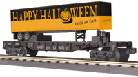 MTH 30-76655 Halloween Flatcar with 40' Trailer
