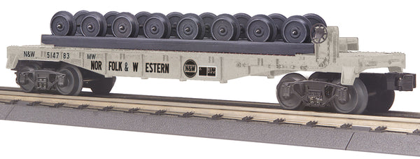 MTH 30-76695 Norfolk Western NW Flat Car w/Wheel Set - Car No. 514783