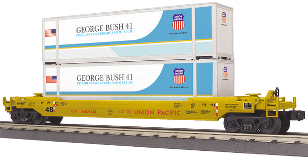 MTH 30-76799 George H. W. Bush Union Pacific UP Husky Stack Car