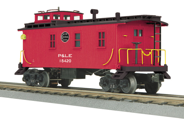 MTH 30-77254 Pittsburgh & Lake Erie P&LE Woodsided Caboose - Car # 18420