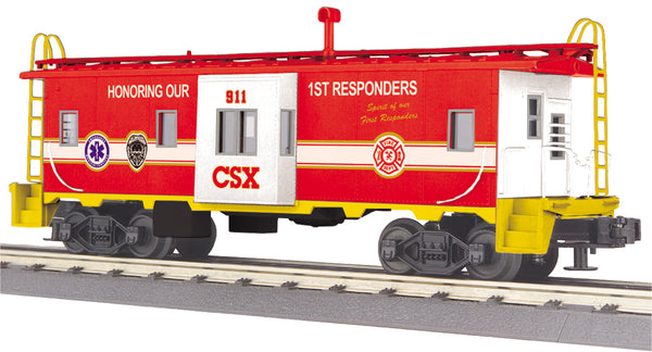 MTH 30-77361 CSX First Responders Bay Window Caboose #911