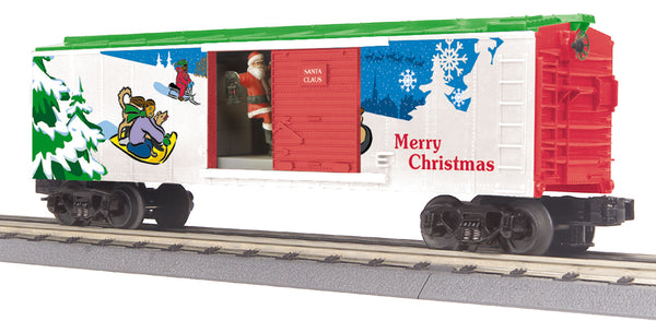 MTH 30-79261 Christmas Operating Boxcar With Signal Man (Santa)