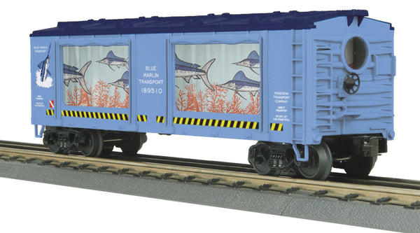 MTH 30-79280 Blue Marlin Operating Aquarium Car
