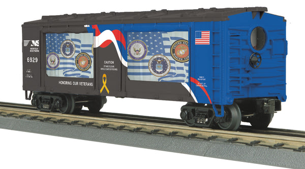 MTH 30-79527  Norfolk Southern NS Veterans Operating Action Car -