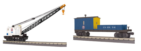 MTH 30-79580 Union Railroad Crane and 30-79584 Union Railroad Crane Tender