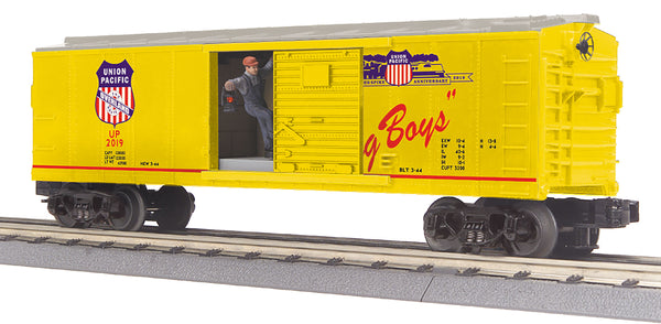 MTH 30-79644 Union Pacific UP Operating Boxcar with Signal Man