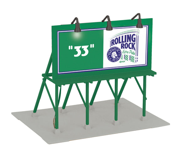 MTH 30-90284 Rolling Rock Art Lighted Billboard