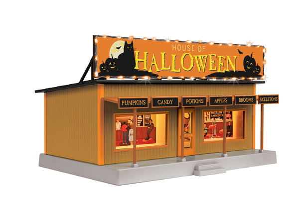 MTH 30-90618 Halloween Pumpkin Road Side Stand with Lights