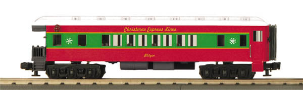 MTH 33-6249 Christmas O-27 Madison Observation Car