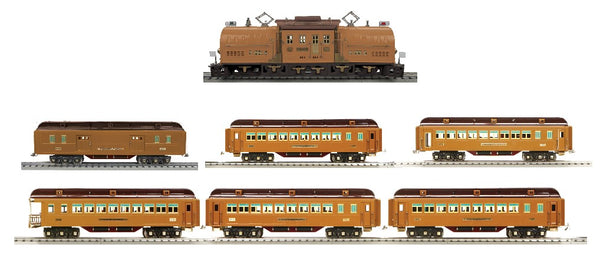 MTH 11-2040-1 Super 381 Two Tone Brown Electric Engine with 11-40107 11-40108 11-40109 11-40110  6 passenger cars Tinplate Standard Gauge