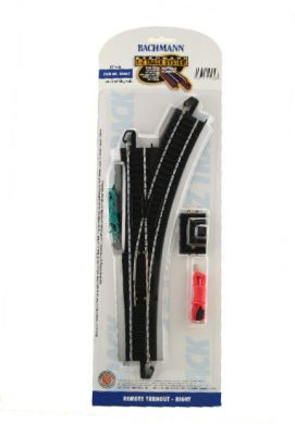 Bachmann 44462 E-Z Track System HO Scale Remote Turnout - Right