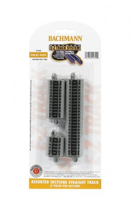 Bachmann 44829 E-Z Track System N Scale Assorted Sections Straight Track (6 per pack)