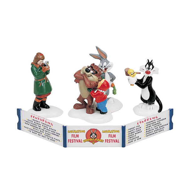 Department 56 54983 The Looney Tunes Animation Film Festival (Set of 4)