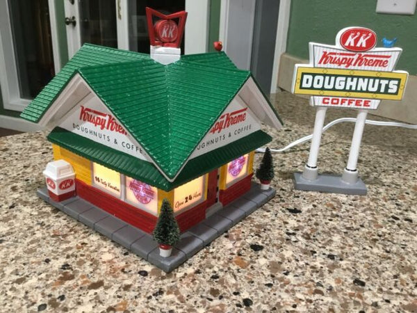 Department 56 55071 Krispy Kreme Doughnut Shop (Set of 2)