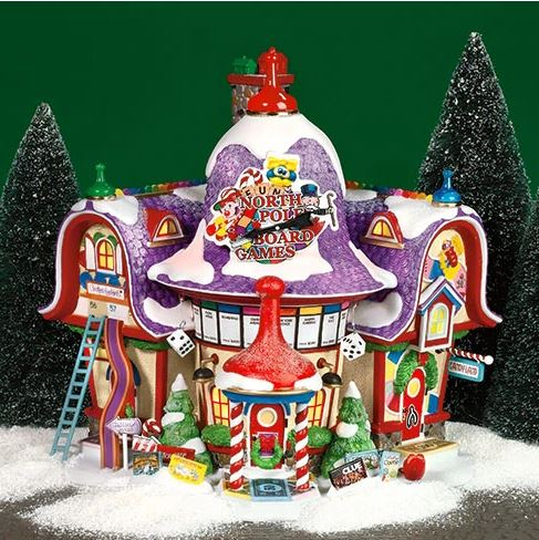 Department 56 56.56789 North Pole Board Game Factory