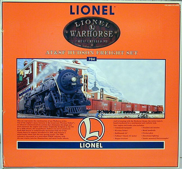 Lionel 6-11838 Warhorse Atchison Topeka and Santa Fe AT&SF Hudson Steam Set with Command Control