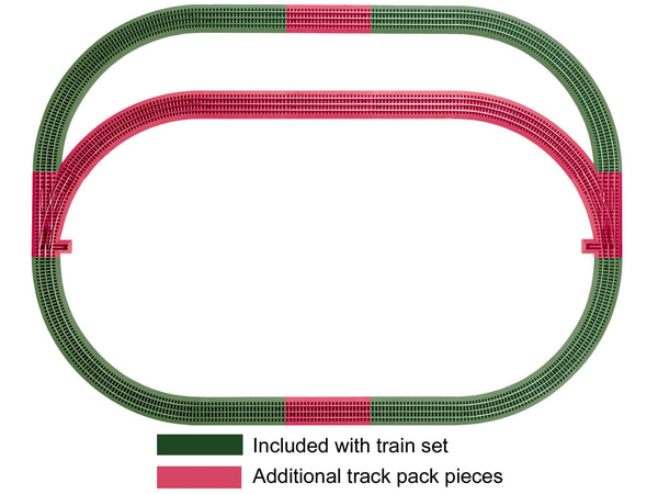 Lionel 6-12031 FasTrack Outer Passing Loop Add-on Track Pack