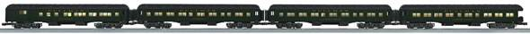 Lionel 6-15521 New York Central NYC Heavyweight 4 Pack Passenger Cars