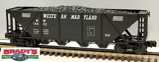 Lionel 6-16422 Western Maryland WM Quad Hopper with Coal Load #16422