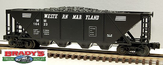 Lionel 6-16423 Western Maryland Quad Hopper with Coal Load #16423
