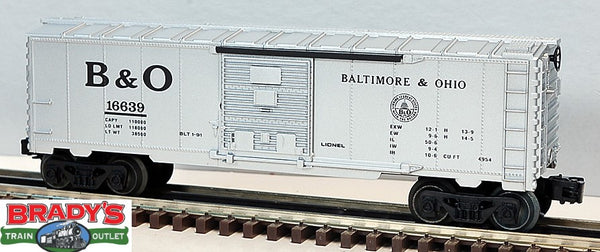 Lionel 6-16639 Baltimore & Ohio B&O Boxcar with Steam RailSounds