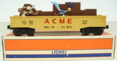 Lionel 6-16737 Warner Brothers WB 3444 Road Runner & Wile E Coyote Acme Animated Gondola