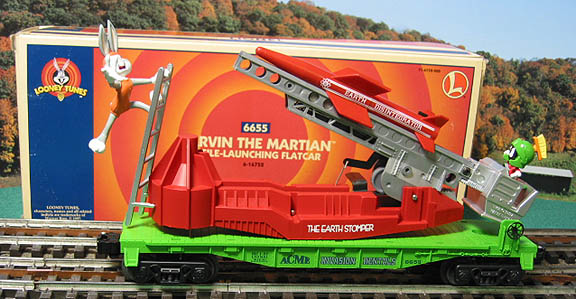 Lionel 6-16752 Looney Tunes Marvin the Martian Missile Launching Flatcar