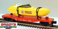Lionel 6-16970 Los Angeles LA County Flatcar with Operating Lifeguard Boat