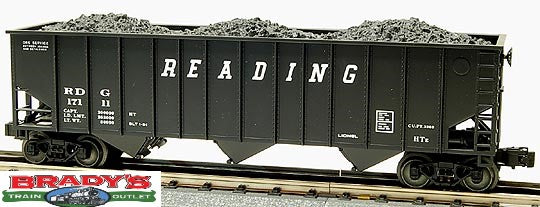 Lionel 6-17111 Reading Railroad Three bay Hopper with Coal Load